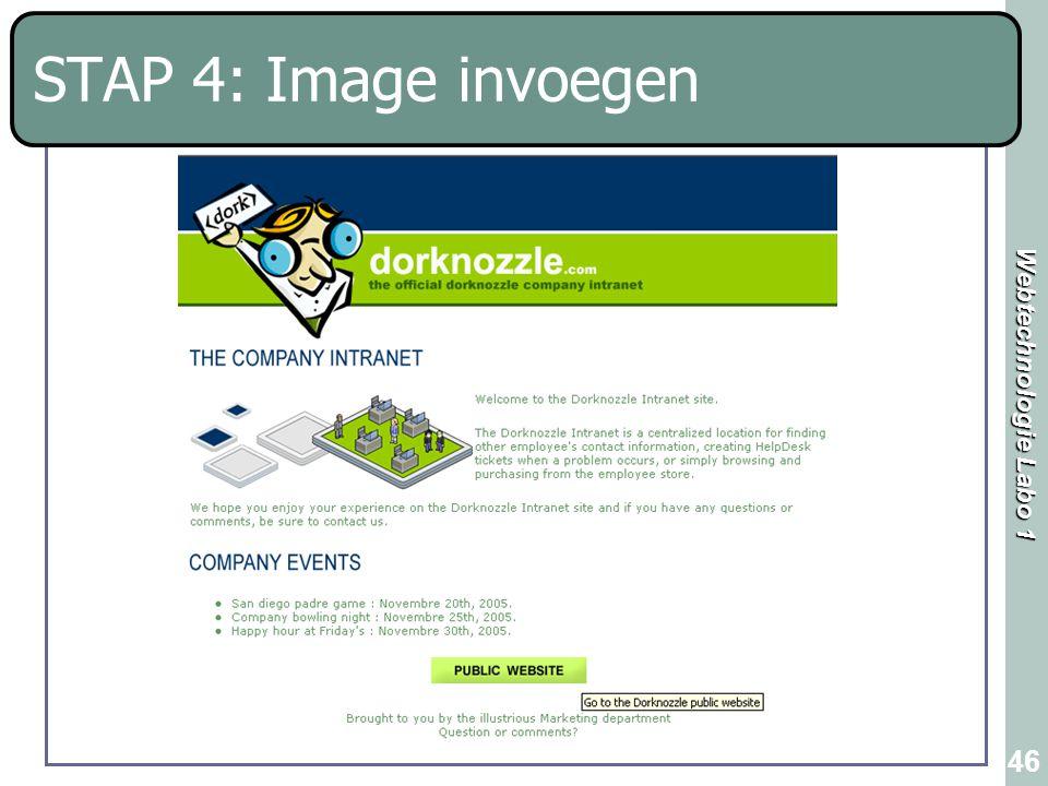STAP 4: Image invoegen
