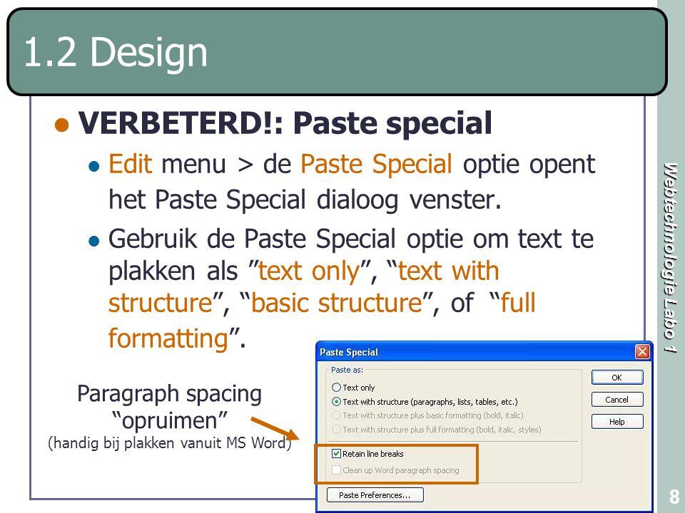 Paragraph spacing opruimen (handig bij plakken vanuit MS Word)