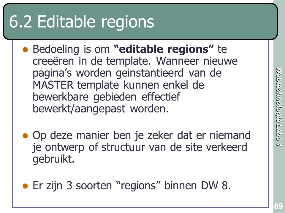 6.2 Editable regions
