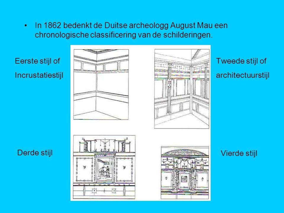 In 1862 bedenkt de Duitse archeologg August Mau een chronologische classificering van de schilderingen.