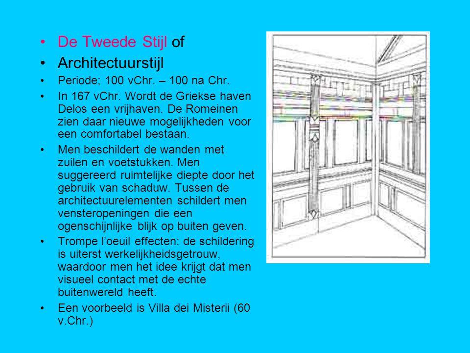 De Tweede Stijl of Architectuurstijl Periode; 100 vChr. – 100 na Chr.