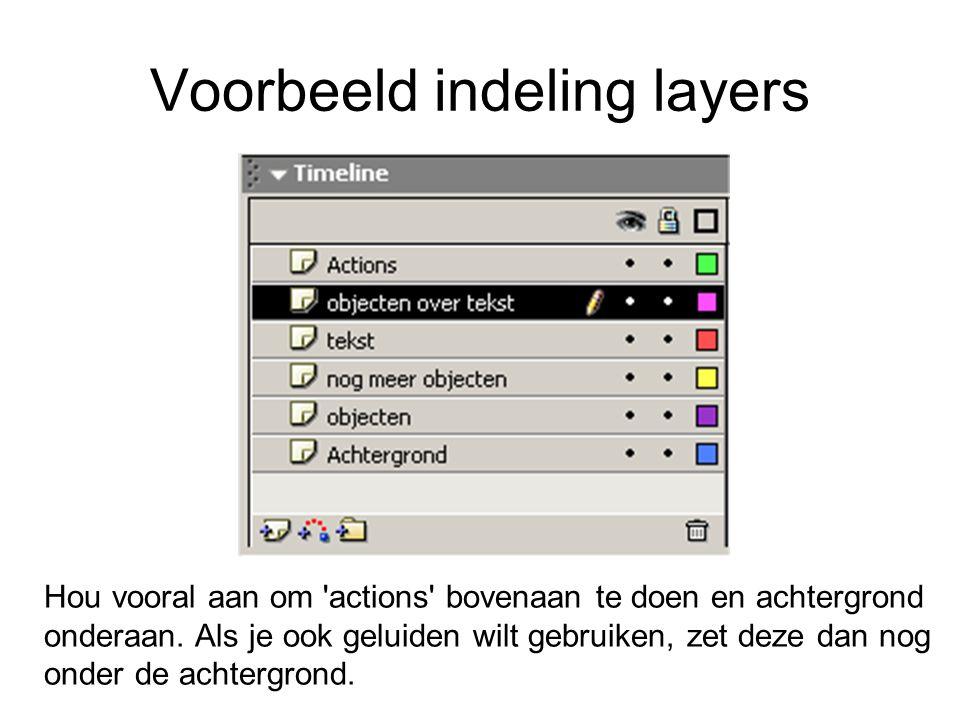 Voorbeeld indeling layers