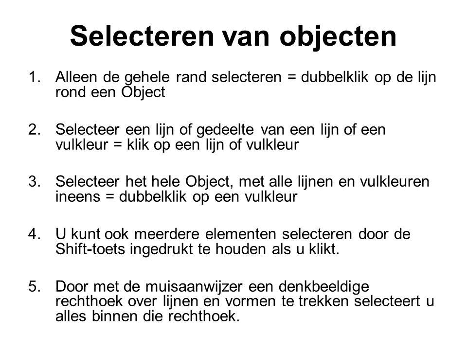 Selecteren van objecten