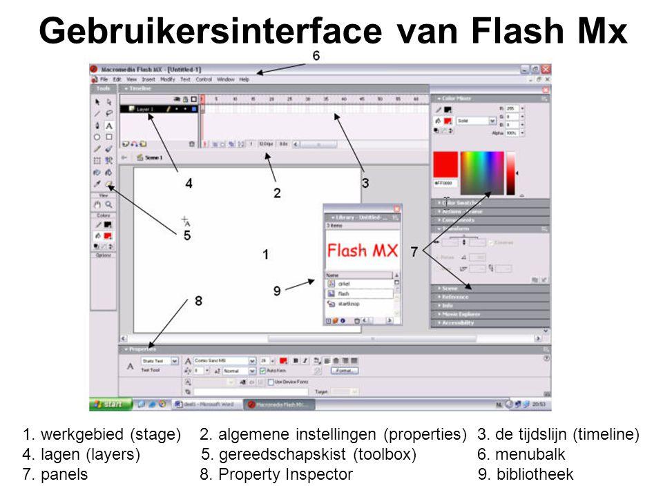 Gebruikersinterface van Flash Mx