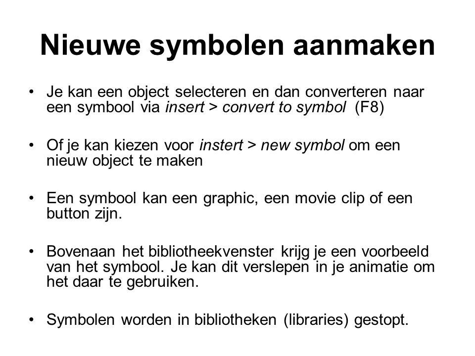 Nieuwe symbolen aanmaken