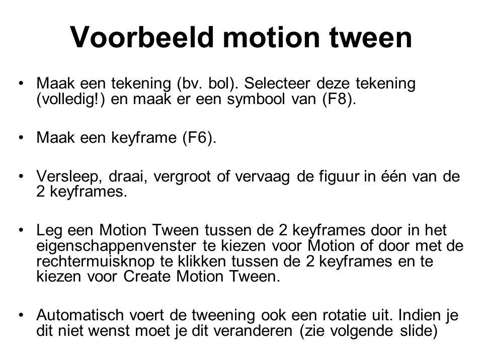 Voorbeeld motion tween