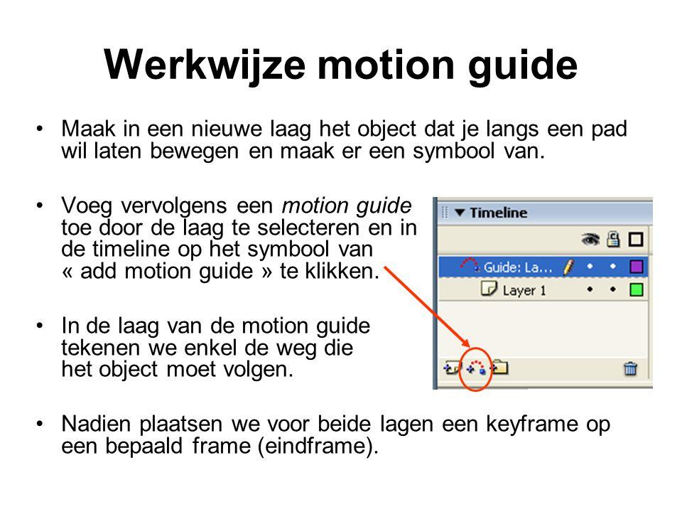 Werkwijze motion guide