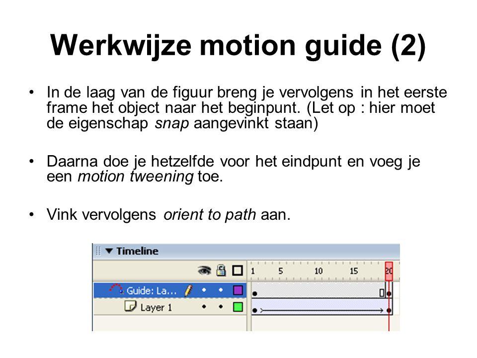 Werkwijze motion guide (2)