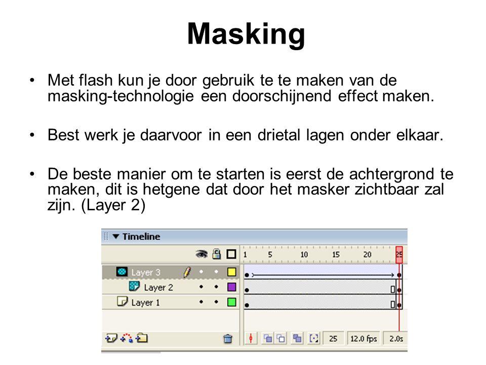 Masking Met flash kun je door gebruik te te maken van de masking-technologie een doorschijnend effect maken.