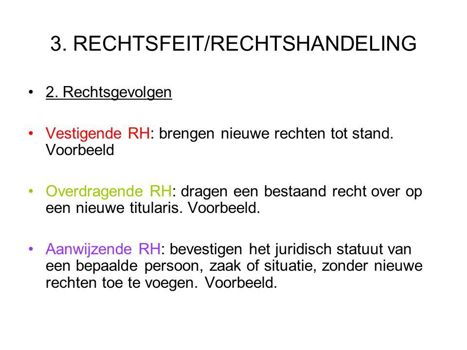 3. RECHTSFEIT/RECHTSHANDELING