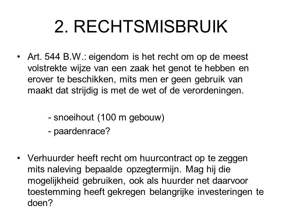 2. RECHTSMISBRUIK