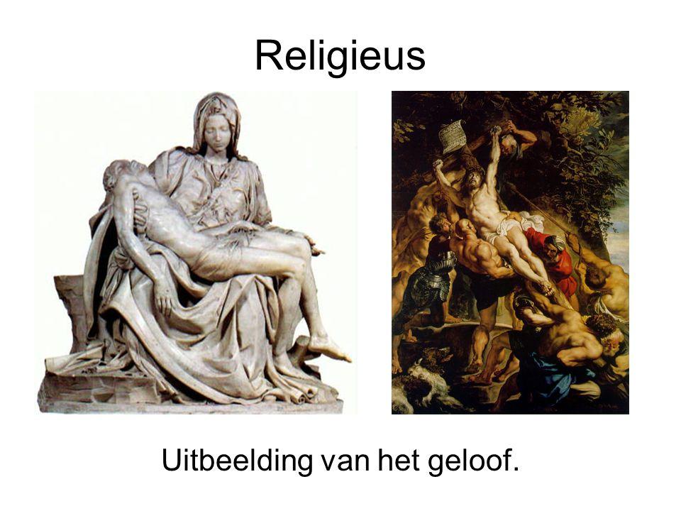Uitbeelding van het geloof.