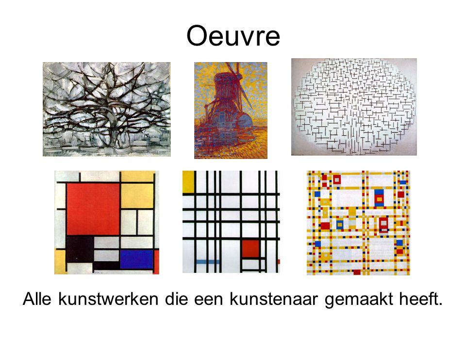 Alle kunstwerken die een kunstenaar gemaakt heeft.