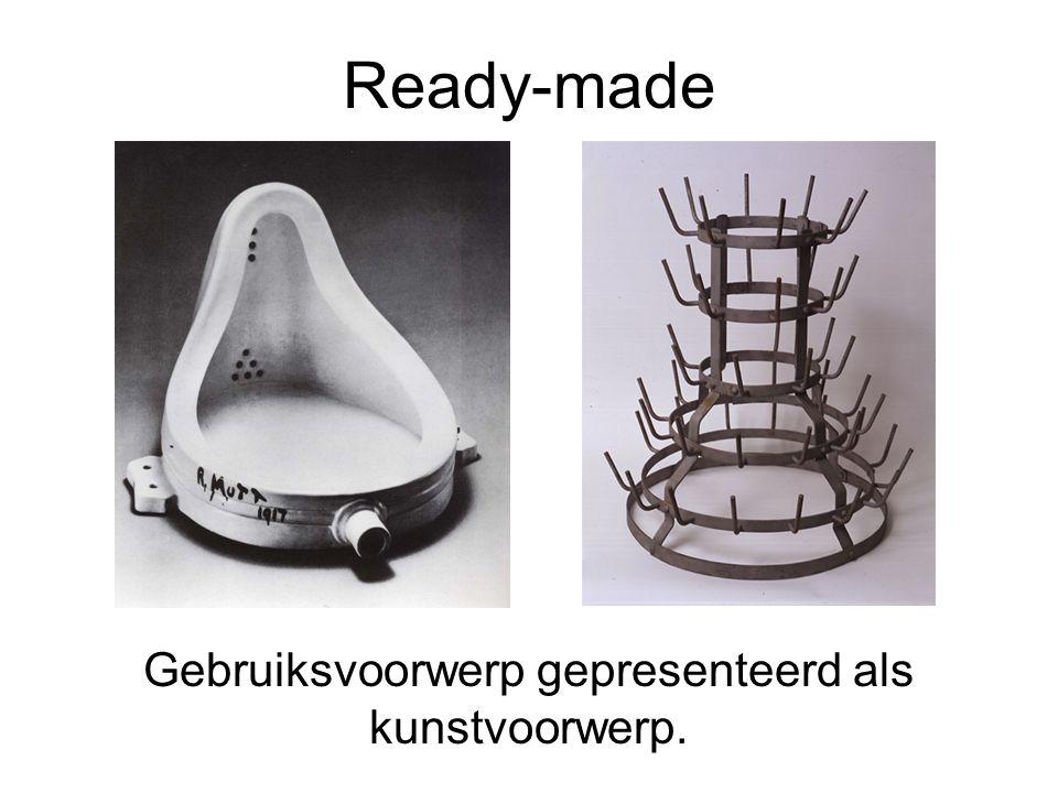 Gebruiksvoorwerp gepresenteerd als kunstvoorwerp.