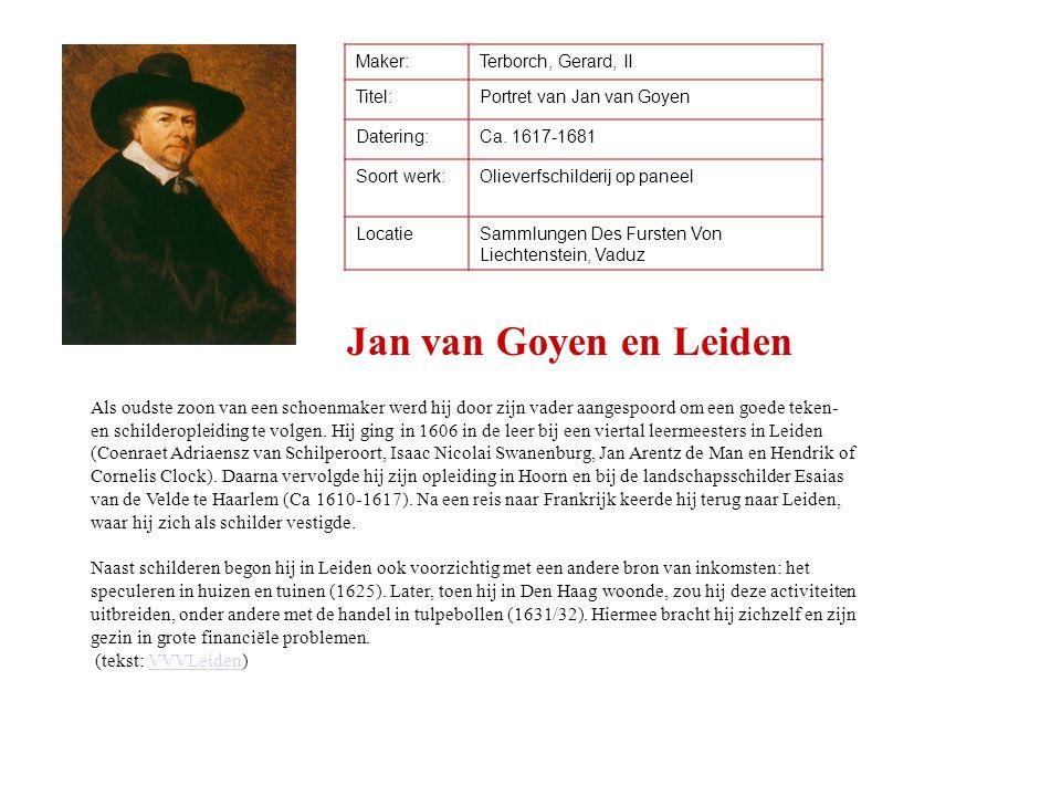 Maker: Terborch, Gerard, II. Titel: Portret van Jan van Goyen. Datering: Ca. 1617-1681. Soort werk:
