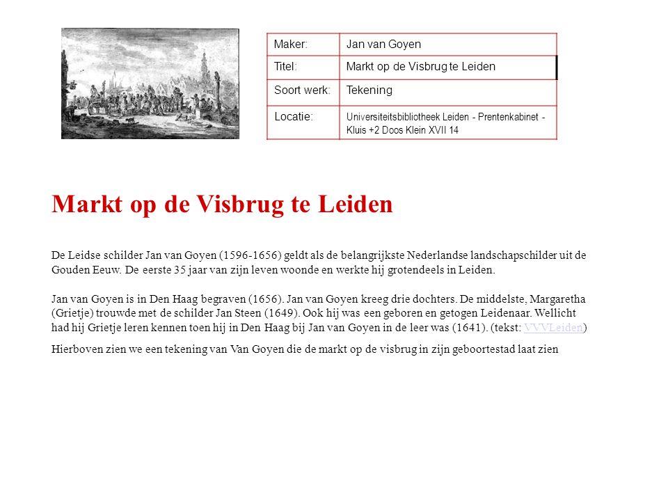 Markt op de Visbrug te Leiden