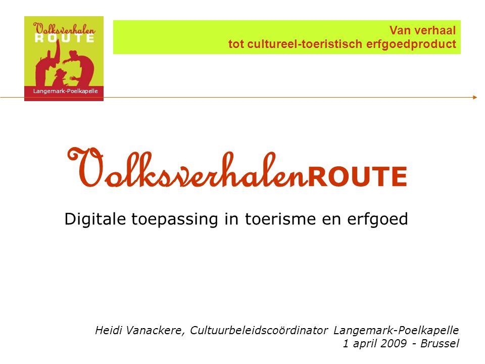 VolksverhalenROUTE Digitale toepassing in toerisme en erfgoed