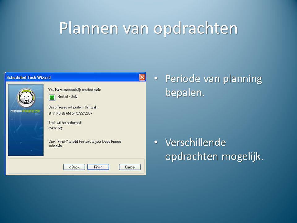 Plannen van opdrachten
