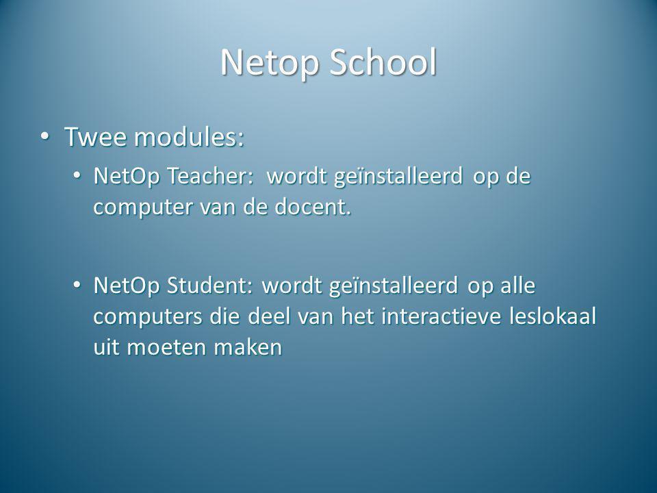 Netop School Twee modules: