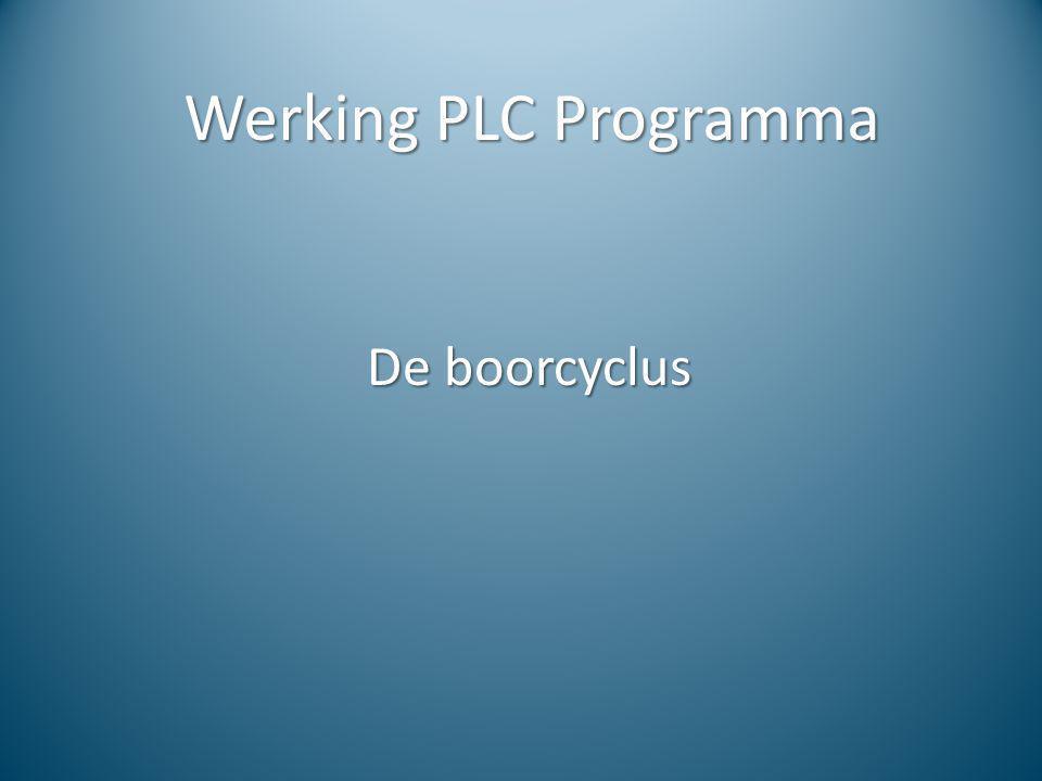 Werking PLC Programma De boorcyclus
