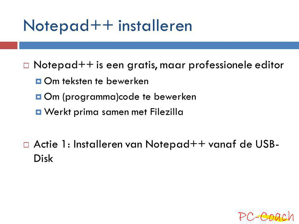 Notepad++ installeren