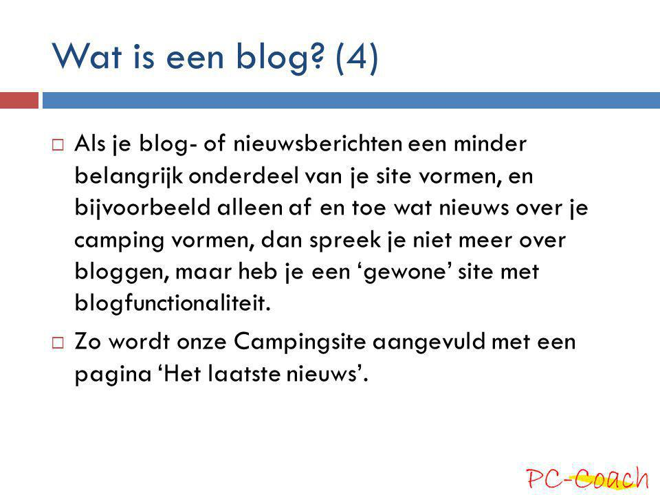 Wat is een blog (4)