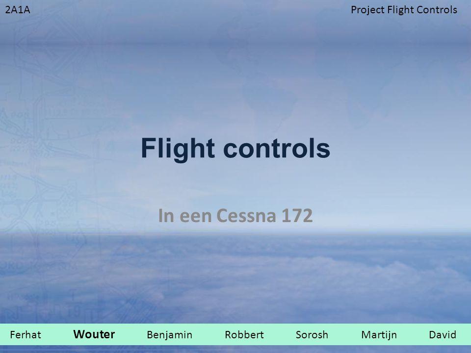 Flight controls In een Cessna 172