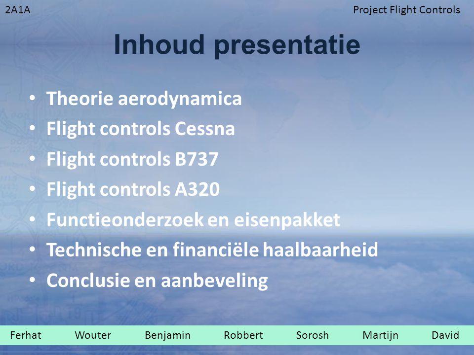 Inhoud presentatie Theorie aerodynamica Flight controls Cessna