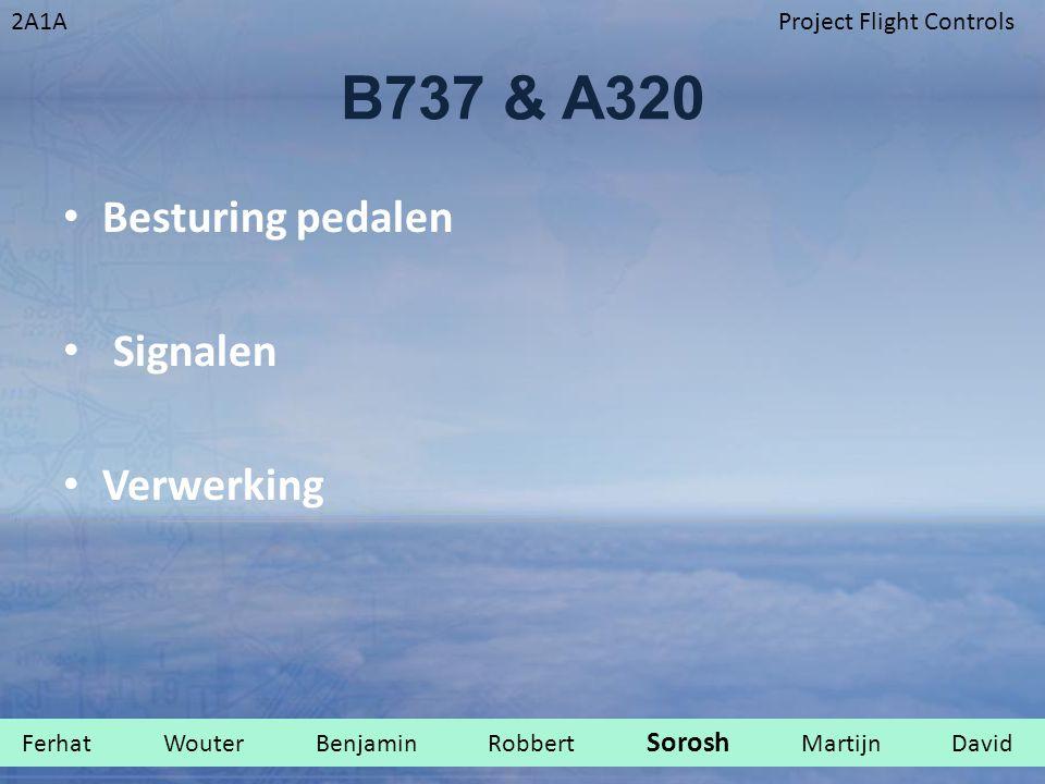 B737 & A320 Besturing pedalen Signalen Verwerking