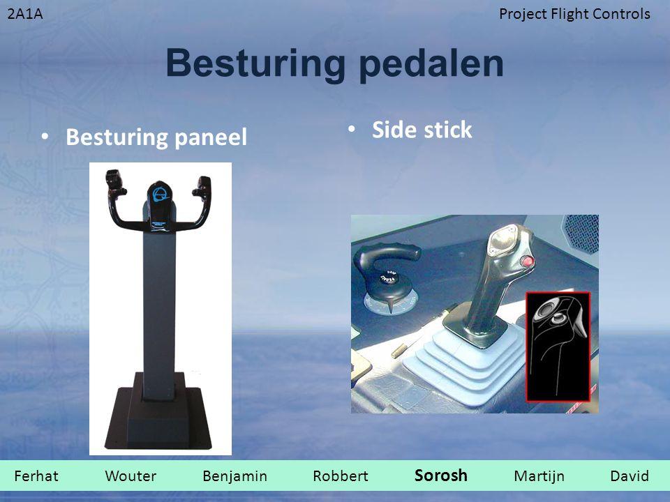 Besturing pedalen Side stick Besturing paneel
