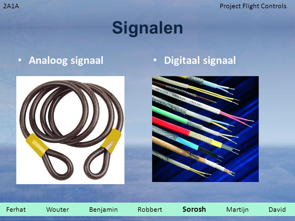 Signalen Analoog signaal Digitaal signaal