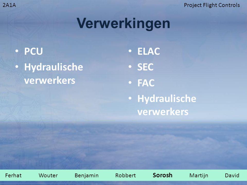 Verwerkingen PCU Hydraulische verwerkers ELAC SEC FAC