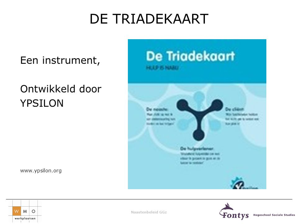 DE TRIADEKAART Een instrument, Ontwikkeld door YPSILON www.ypsilon.org