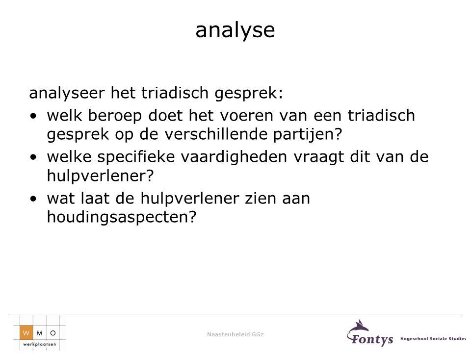 analyse analyseer het triadisch gesprek: