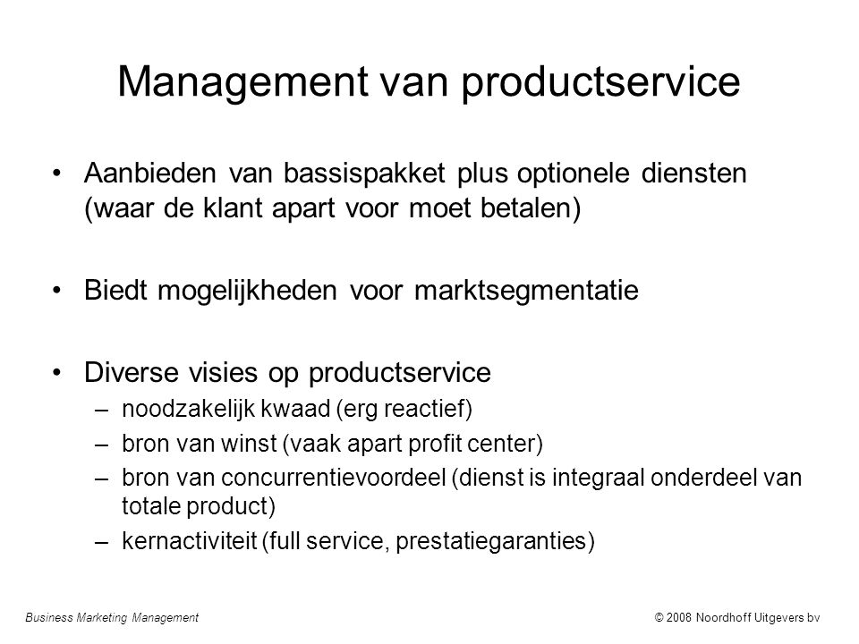Management van productservice