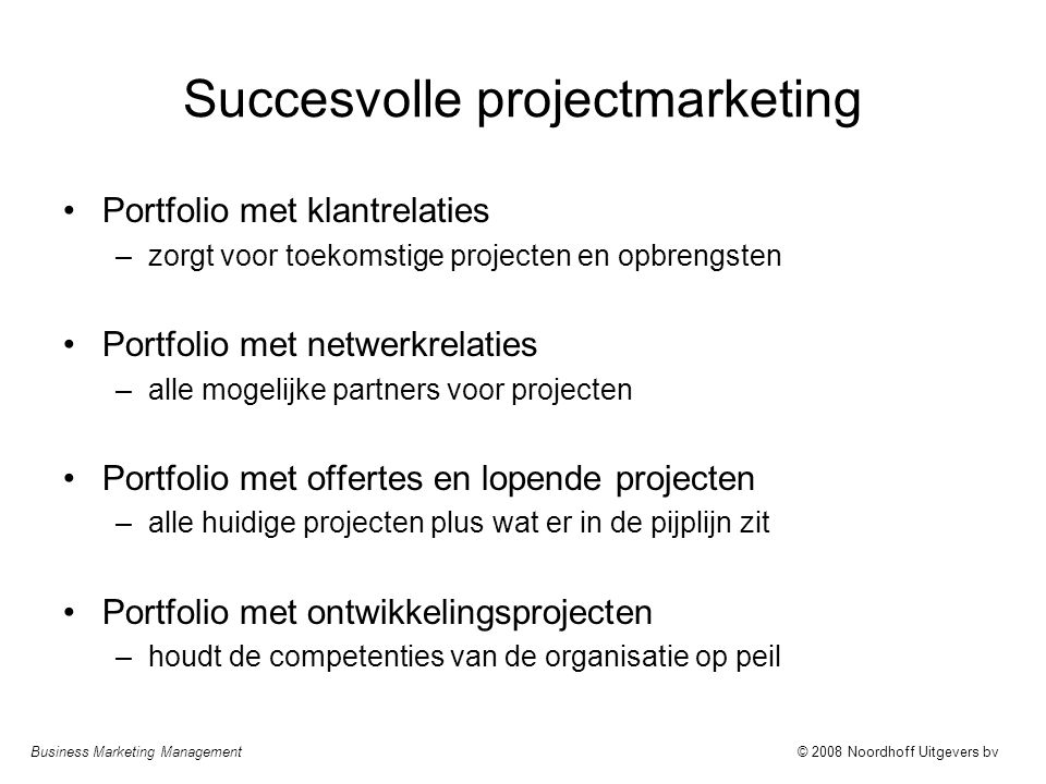 Succesvolle projectmarketing