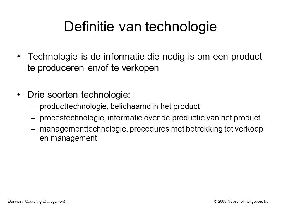 Definitie van technologie