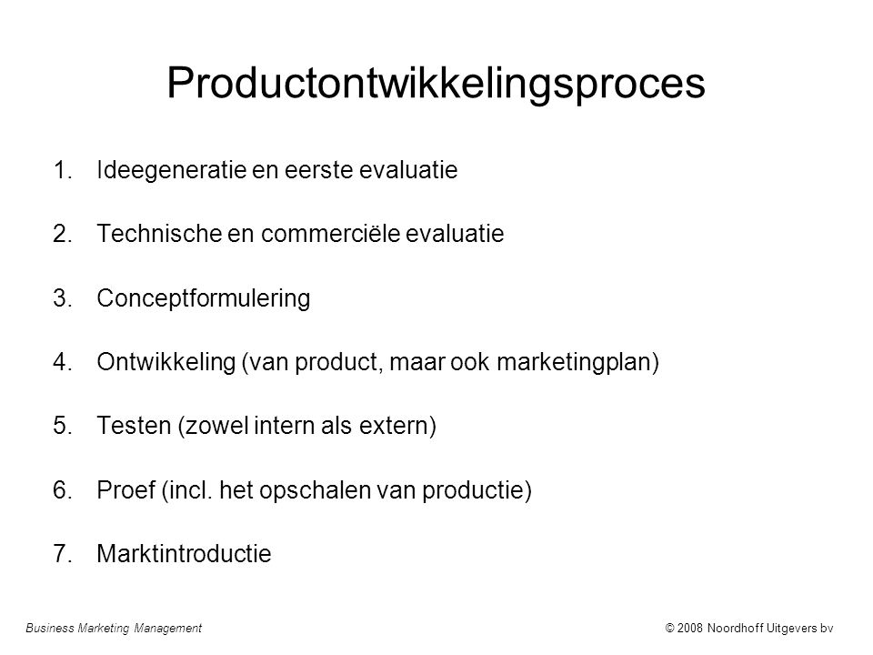 Productontwikkelingsproces