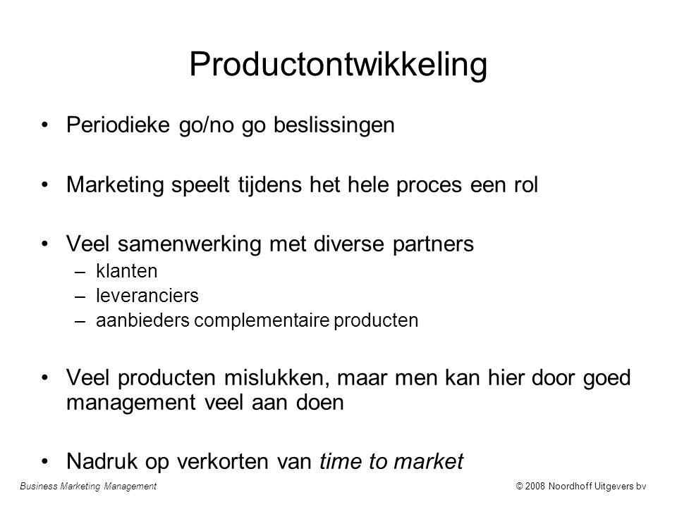 Productontwikkeling Periodieke go/no go beslissingen