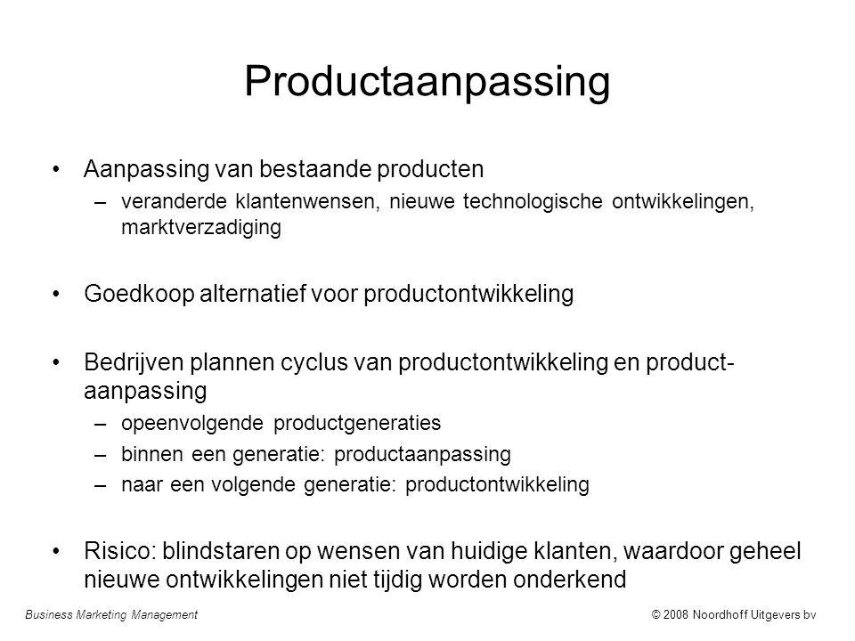 Productaanpassing Aanpassing van bestaande producten