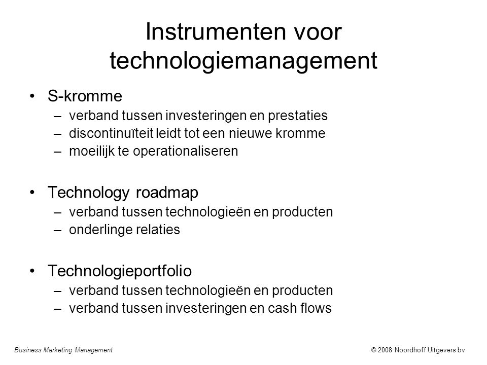 Instrumenten voor technologiemanagement