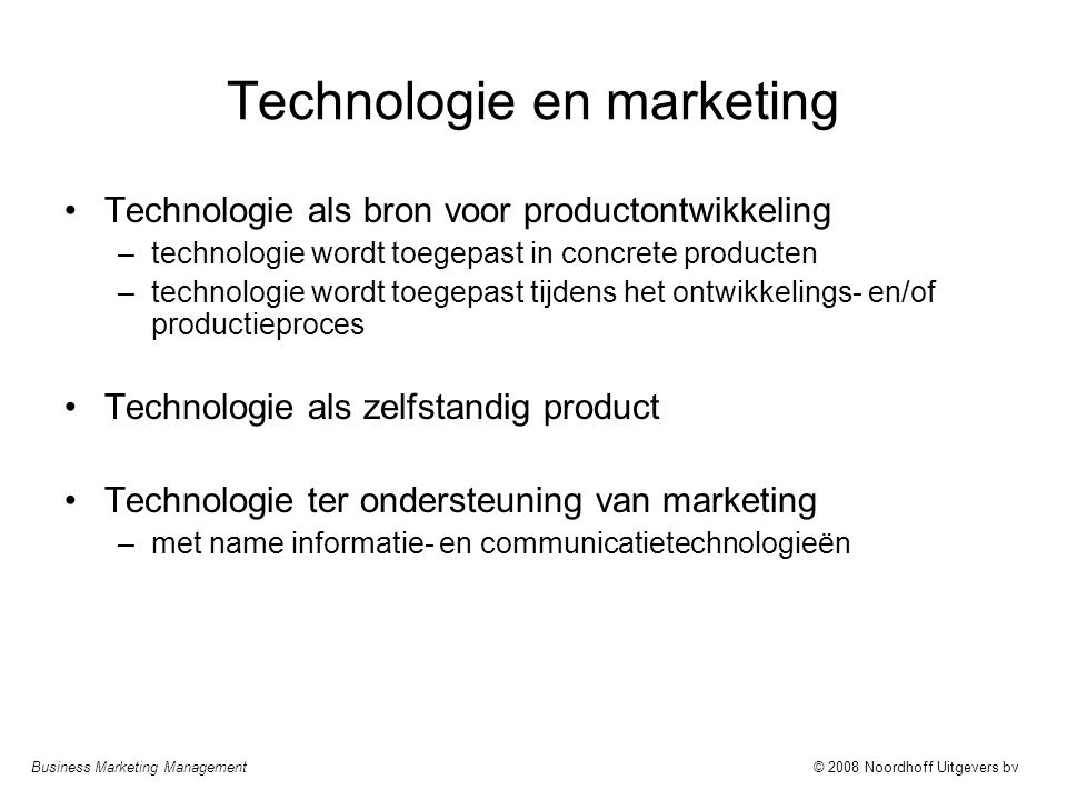 Technologie en marketing