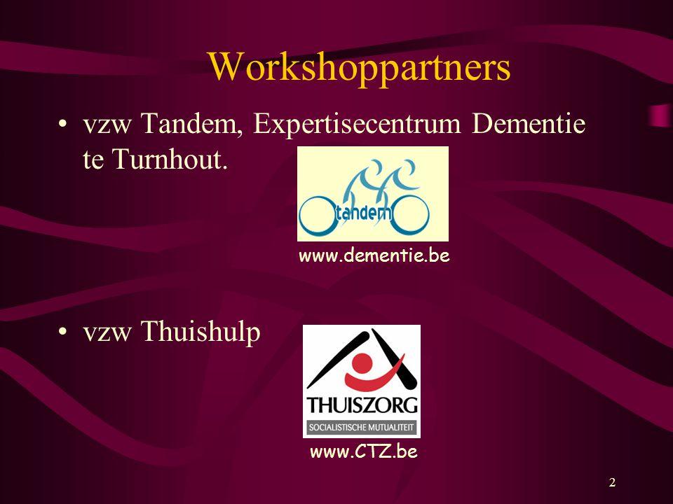 Workshoppartners vzw Tandem, Expertisecentrum Dementie te Turnhout.