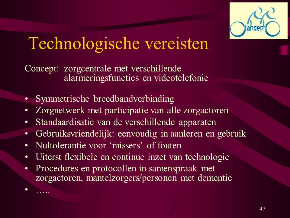 Technologische vereisten