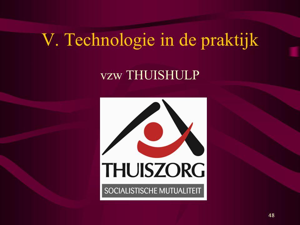 V. Technologie in de praktijk