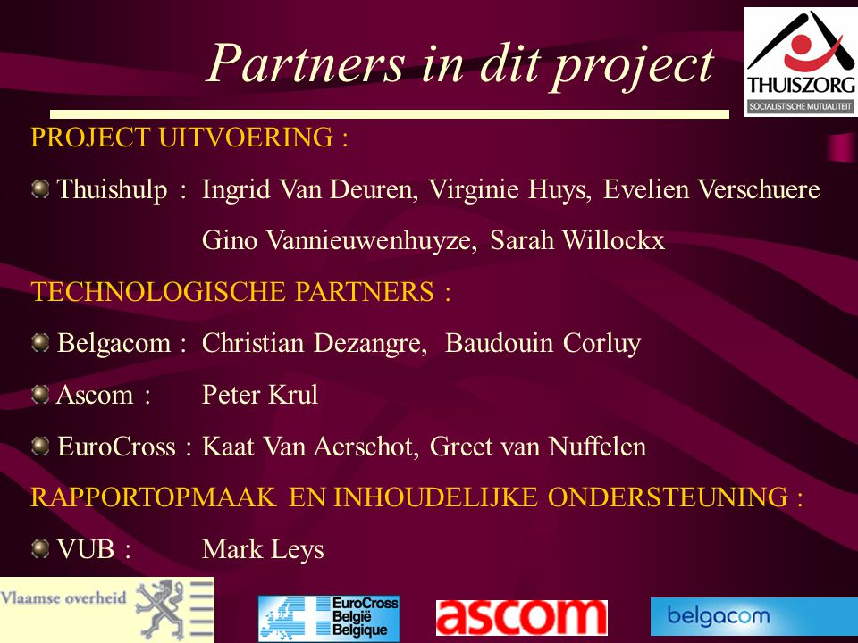Partners in dit project