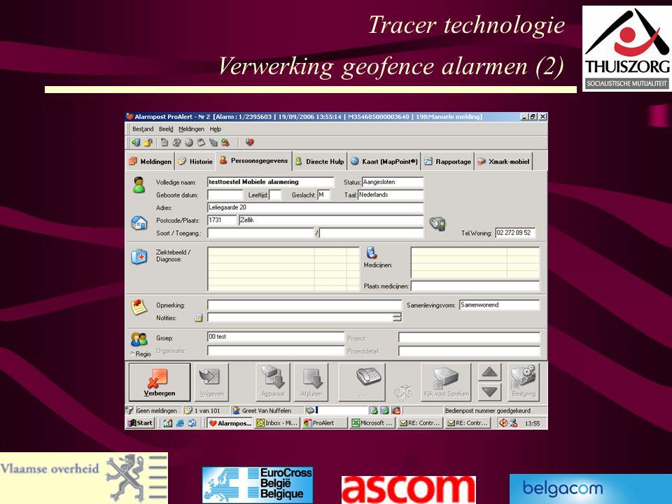 Tracer technologie Verwerking geofence alarmen (2)