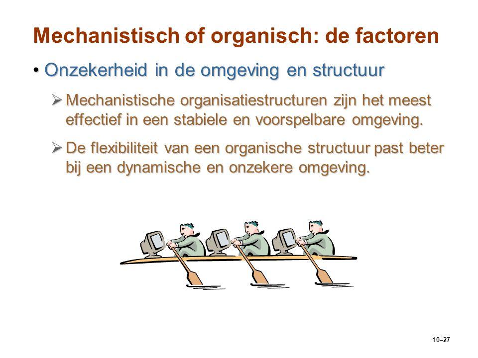 Mechanistisch of organisch: de factoren
