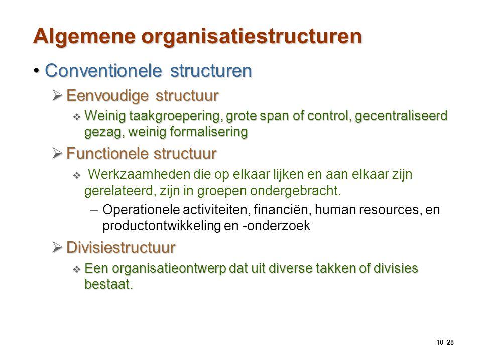 Algemene organisatiestructuren
