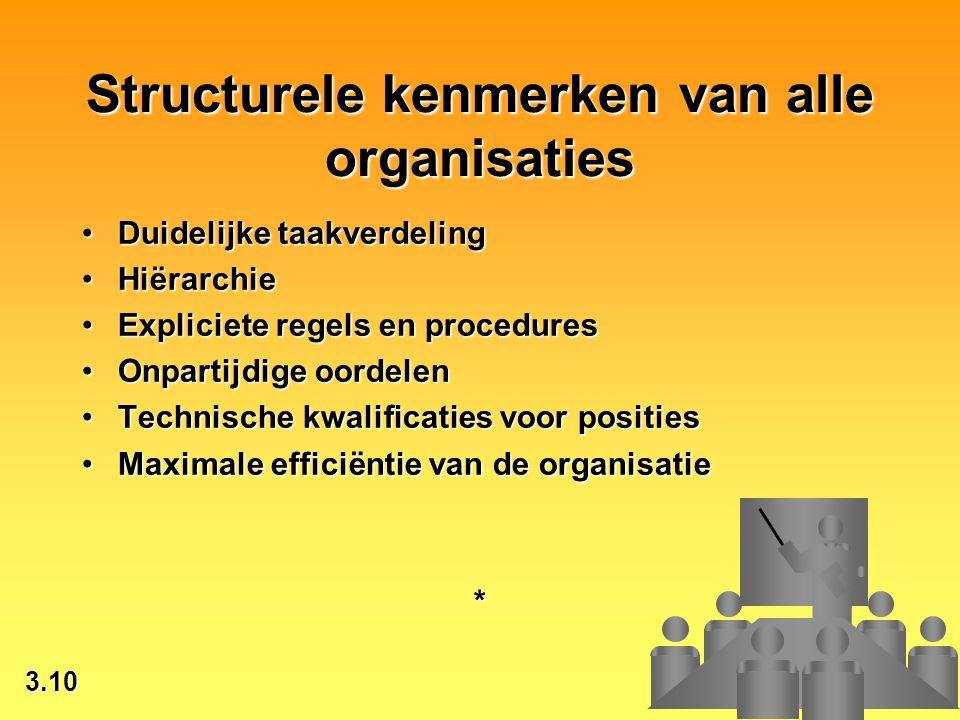 Structurele kenmerken van alle organisaties